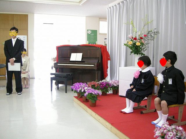 弥富小学校入学式09い