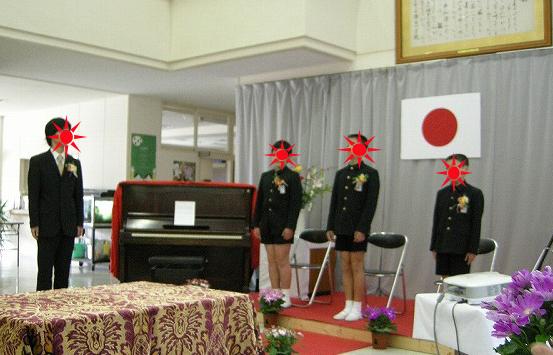 弥富小学校卒業式090319い
