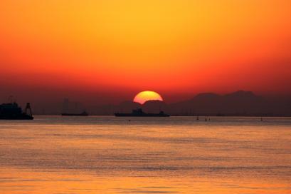 ペット博と幕張と海と・・・♪夕陽5