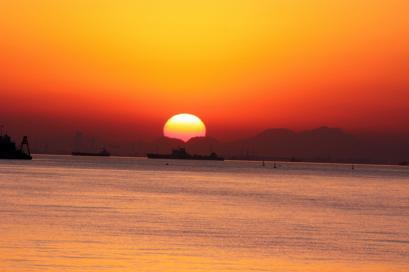 ペット博と幕張と海と・・・♪夕陽3