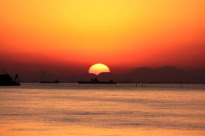 ペット博と幕張と海と・・・♪夕陽4
