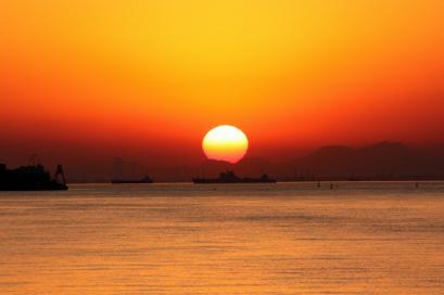 ペット博と幕張と海と・・・♪夕陽2