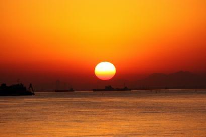 ペット博と幕張と海と・・・♪夕陽1
