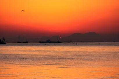 ペット博と幕張と海と・・・♪夕陽9