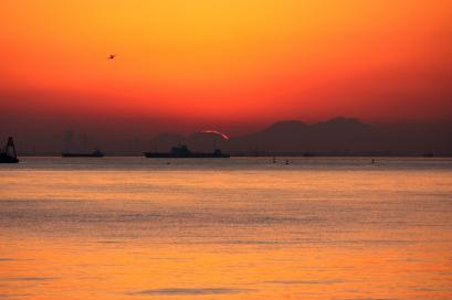 ペット博と幕張と海と・・・♪夕陽8