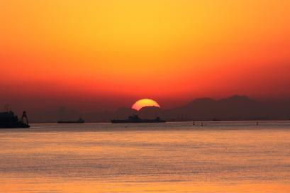 ペット博と幕張と海と・・・♪夕陽6