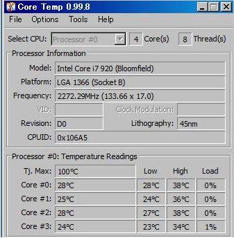 pc温度アイドリング