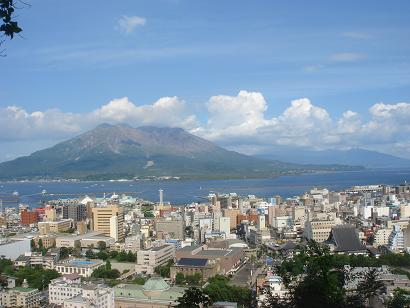 城山から見た桜島