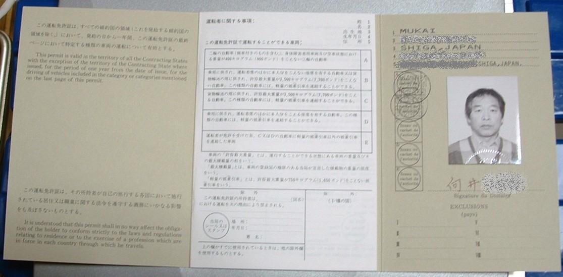 国際免許証1