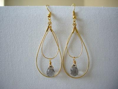 drop shape gold earrings