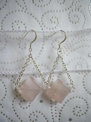 Rose Quarts earrings