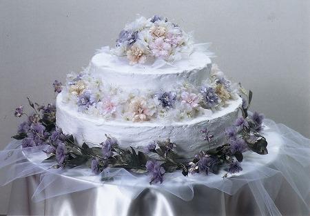 花のウェディングケーキ