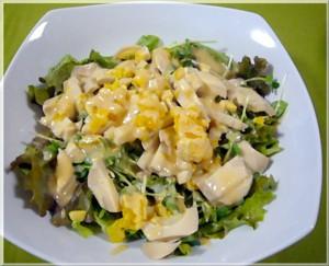 しょうゆ卵のサラダ