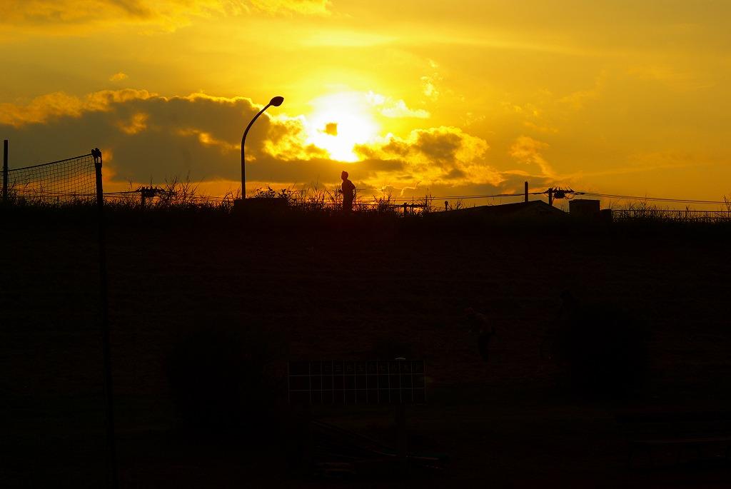 多摩川夕陽04