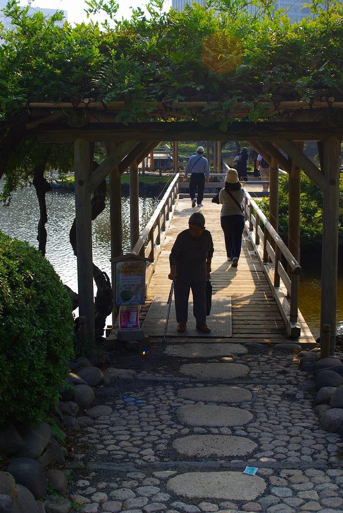 浜離宮中島への道