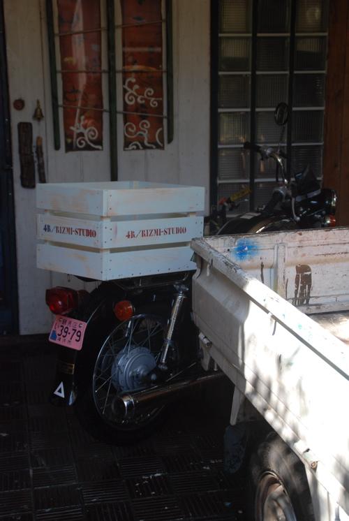 バイク荷台