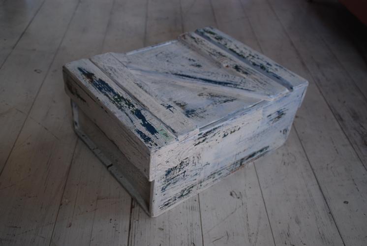 木の道具箱(青下地)