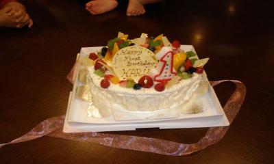 haru誕生日ケーキ
