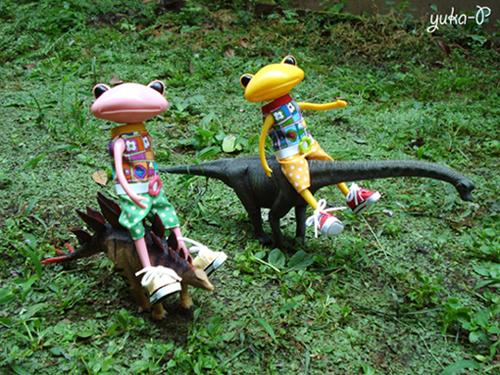 恐竜と散歩