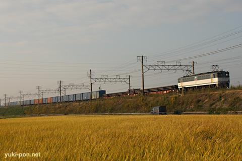 EF65PF+ワム貨物@西小坂井~豊橋
