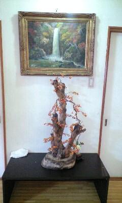 清風桜養老の滝の絵