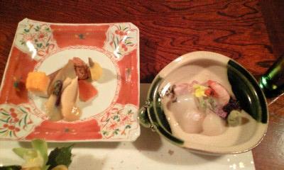 清風桜 お料理1