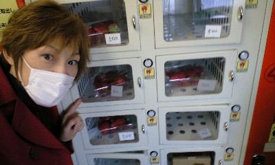 イチゴの自販機