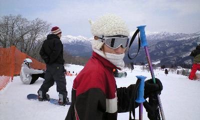 スキー山頂