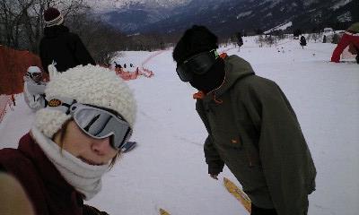 スキー山頂にオットセイ