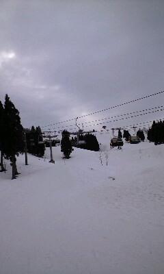 スキー下から見た