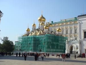 修繕中のブラゴヴェシチェンスキー聖堂