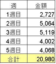 2011年1月食費合計