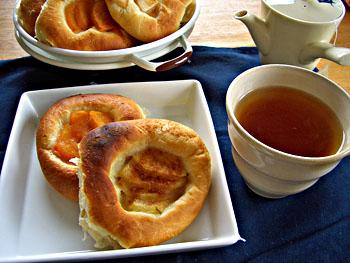 ラフランスと柿のパン2