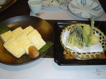 卵と天ぷら
