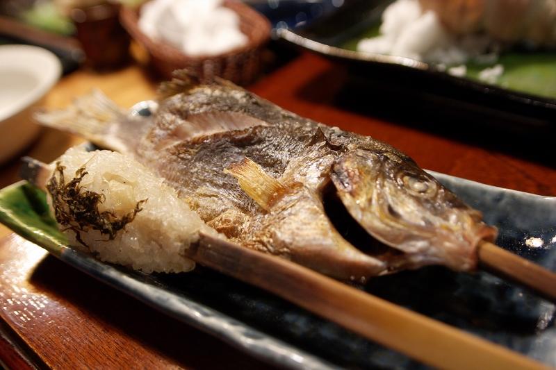 焼き魚と焼き米