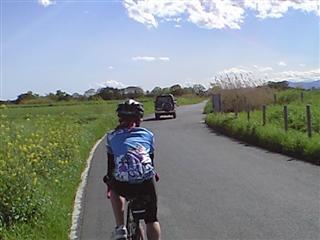絶好の自転車日和