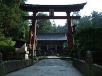 8/3 富士吉田の浅間神社 鳥居