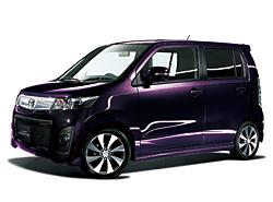 マツダ AZワゴンカスタム 紫
