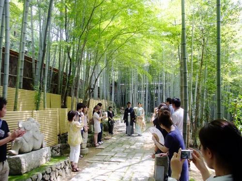 竹林模擬挙式