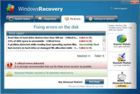 Windows vista recovery