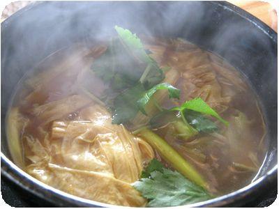 生湯葉カレー南蛮蕎麦
