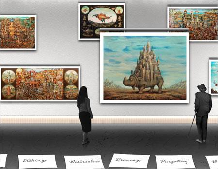 美術館のFlashギャラリー