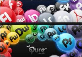 丸いボタンのアプリケーションシンボル