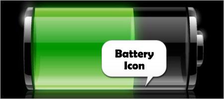 バッテリーアイコン