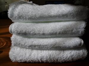タオルを白で統一