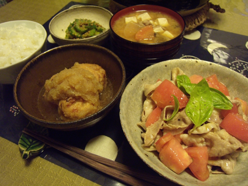 6温しゃぶトマトバジル定食