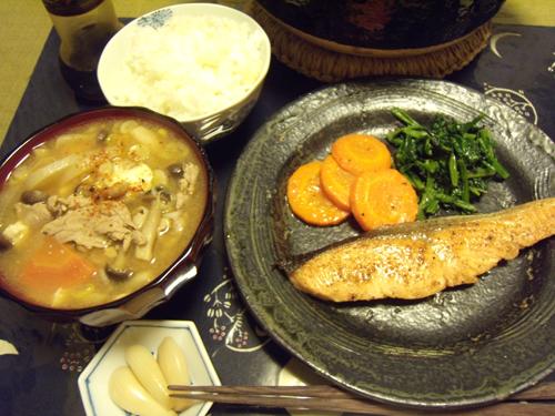 5鮭のバター焼定食