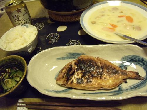 8鯛とホワイトシチュー定食