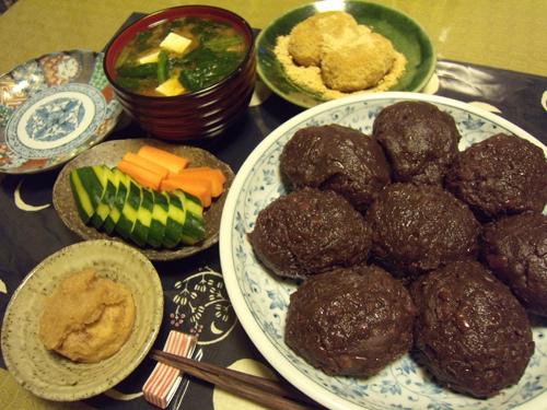 7母の手作りおはぎ定食