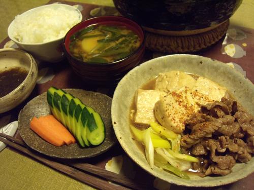 6肉豆腐定食